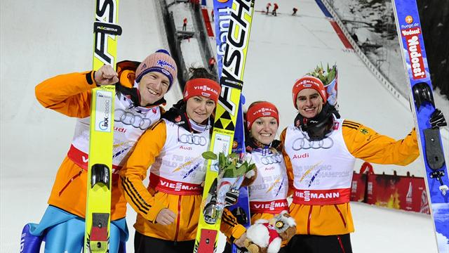 Althaus leads first-ever sweep of women's World Cup ski jumping podium