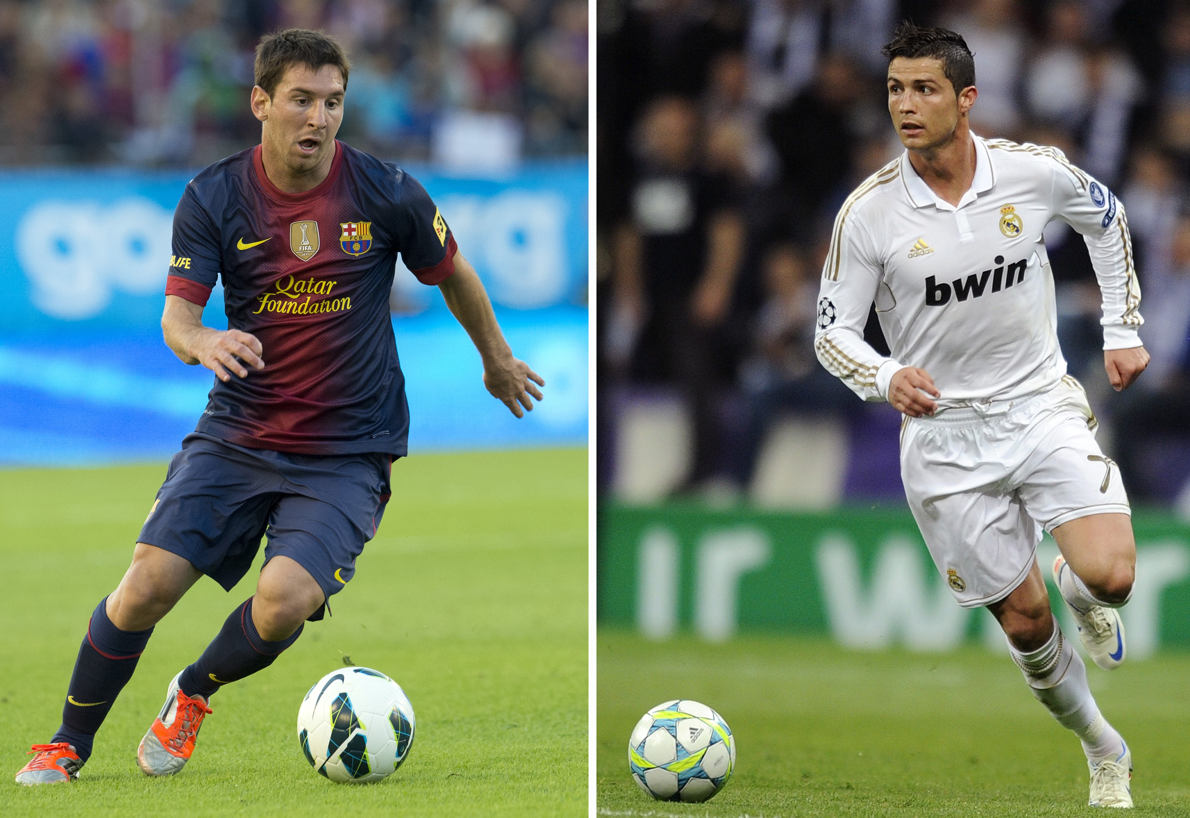 a comparison between football stars ronaldo and messi