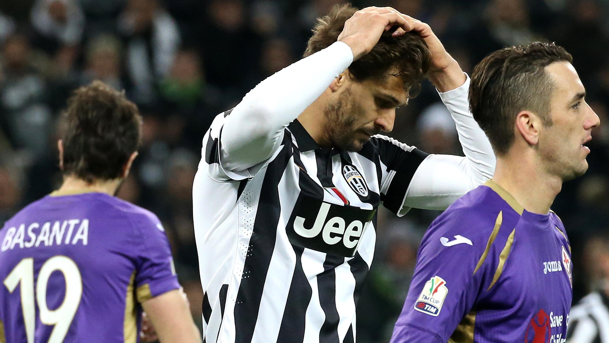 La déception de Fernando Llorente avec la Juventus contre la Fiorentina (saison 2014-2015)
