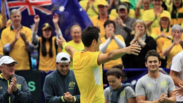 Tennis : Tomic envoie l'Australie en quart face... au Kazakhstan