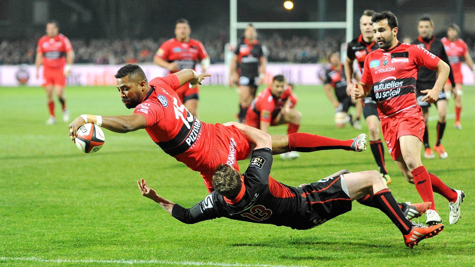 L'essai de Delon Armitage (Toulon) face à Lyon - 14 mars 2015