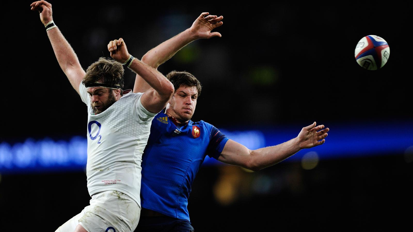Geoff Parling - Alexandre Flanquart. Angleterre-France, 21 mars 2015