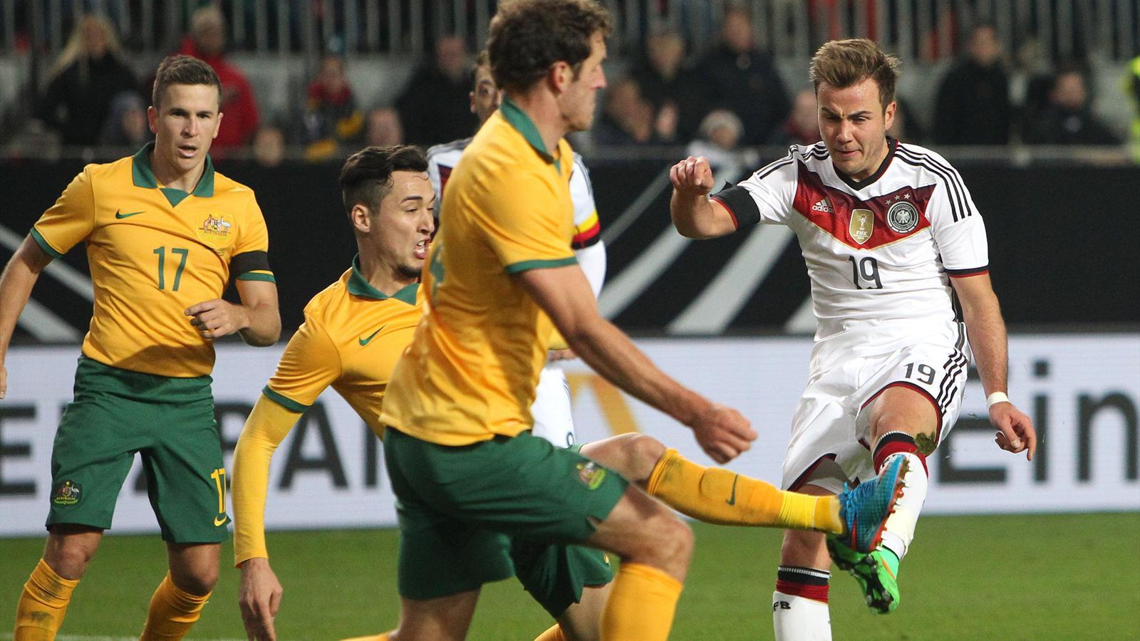 Mario Götze en match amical avec l'Allemagne contre l'Australie (mars 2015)