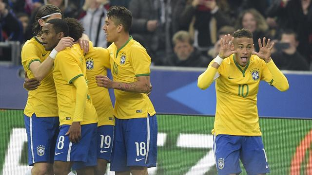 Футбол франция бразилия