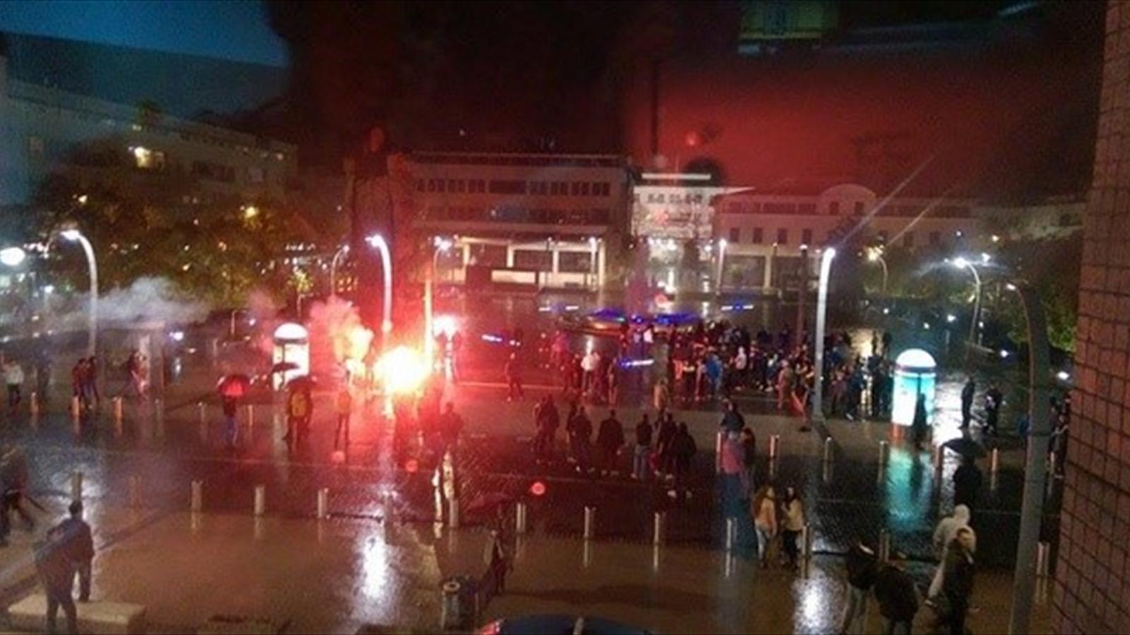 Сожжение американского флага перед матчем Черногория - Россия