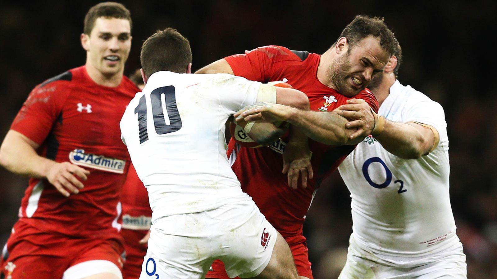 Jamies Roberts (pays de Galles) face à l'Angleterre - Tournoi 6 nations 2015