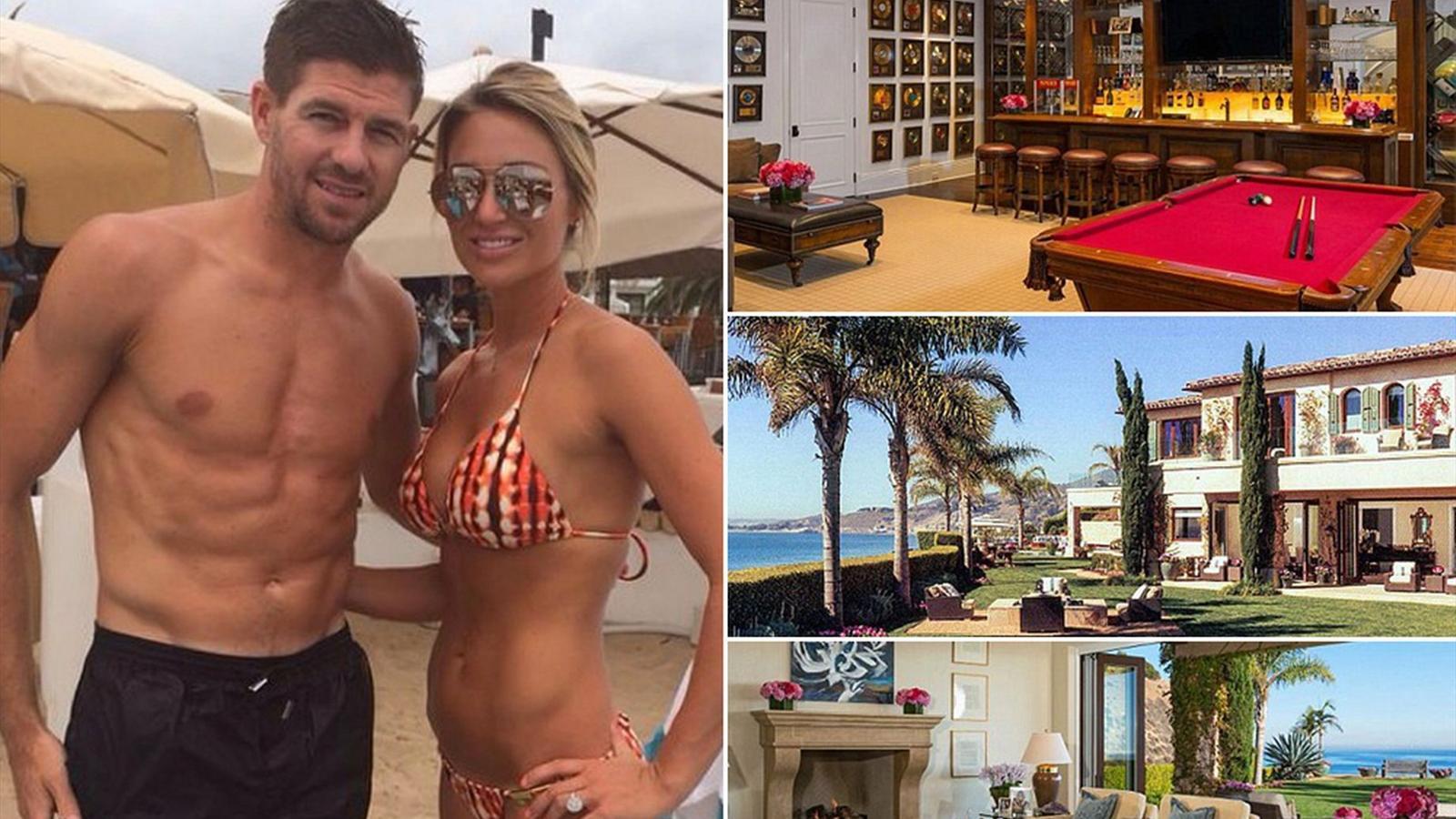Steven Gerrard's new £16.8m Malibu mansion as midfielder prepares for LA Galaxy switch (Mirror)