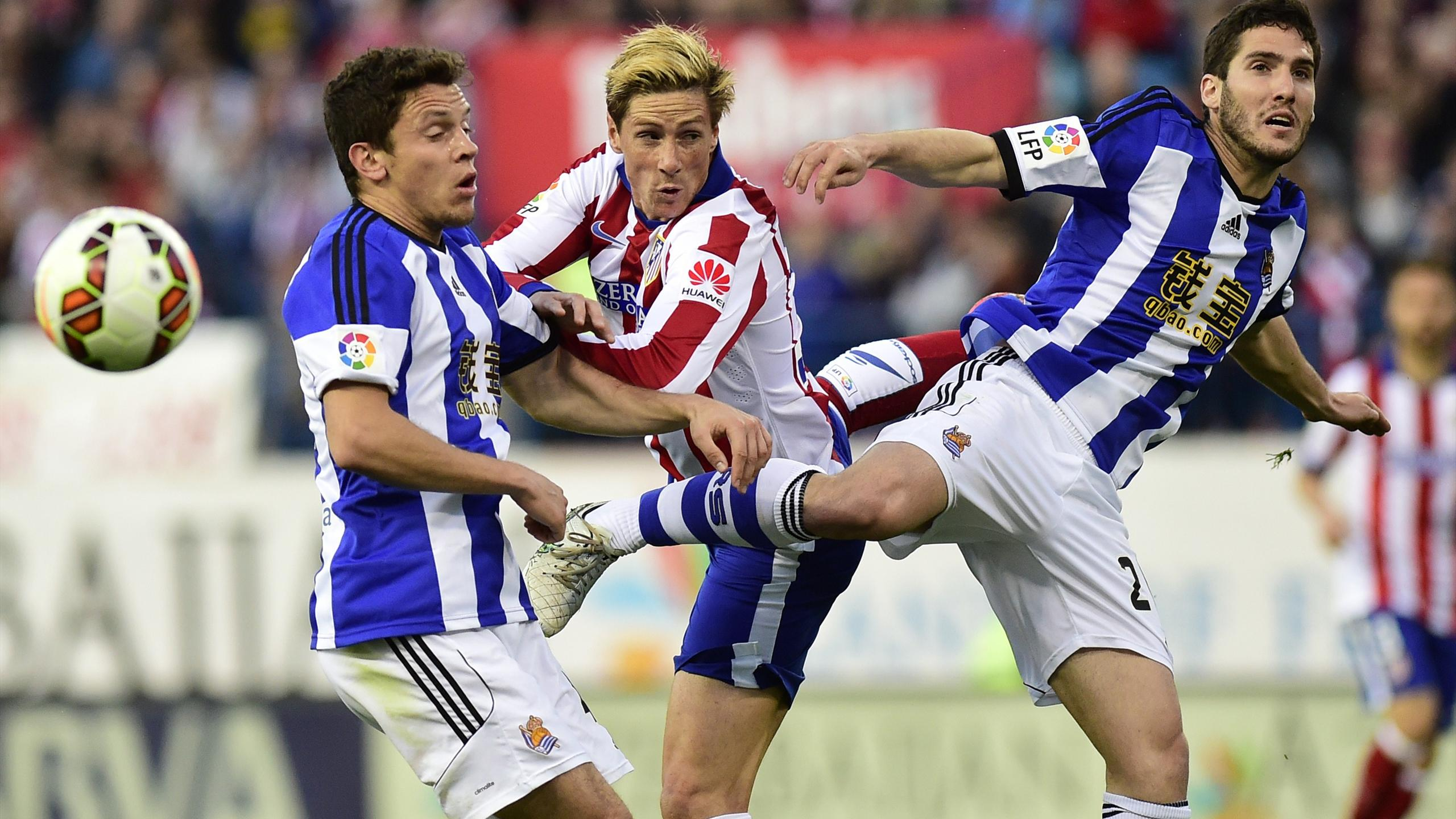 Fernando Torres (Atlético) face à la Real Sociedad