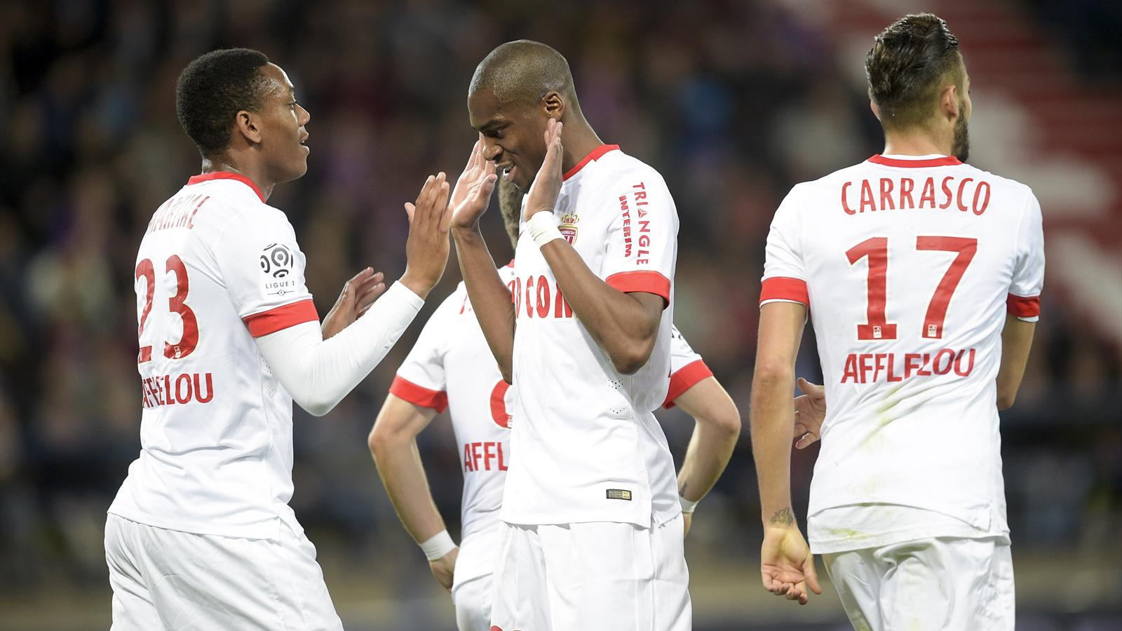 Martial et Kondogbia (Monaco) face à Caen
