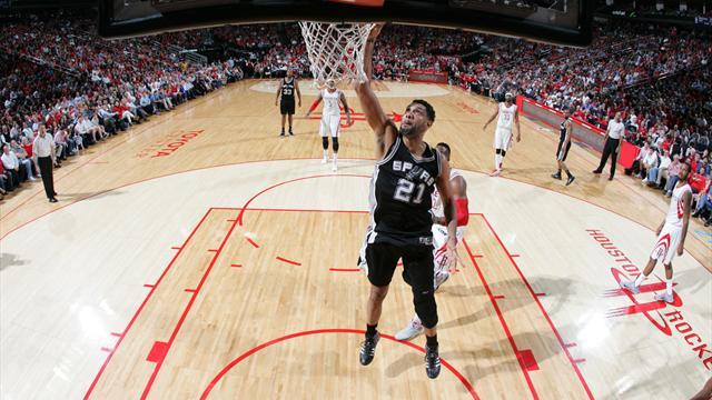 San Antonio �coeure Houston et bondit � la 3e place : ce qu'il faut retenir de la nuit en NBA