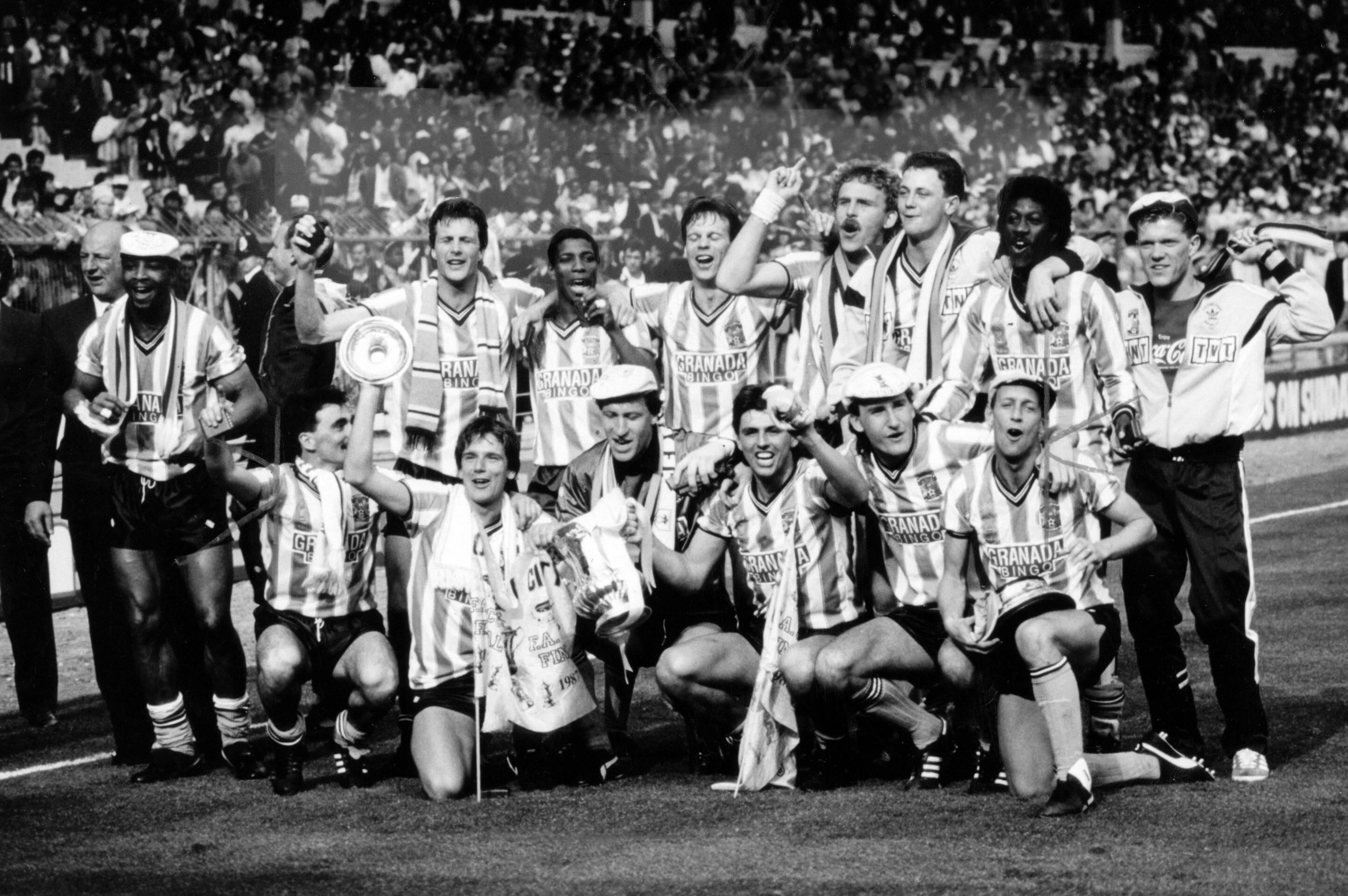 «Ковентри» после победы в Кубке Англии-1987
