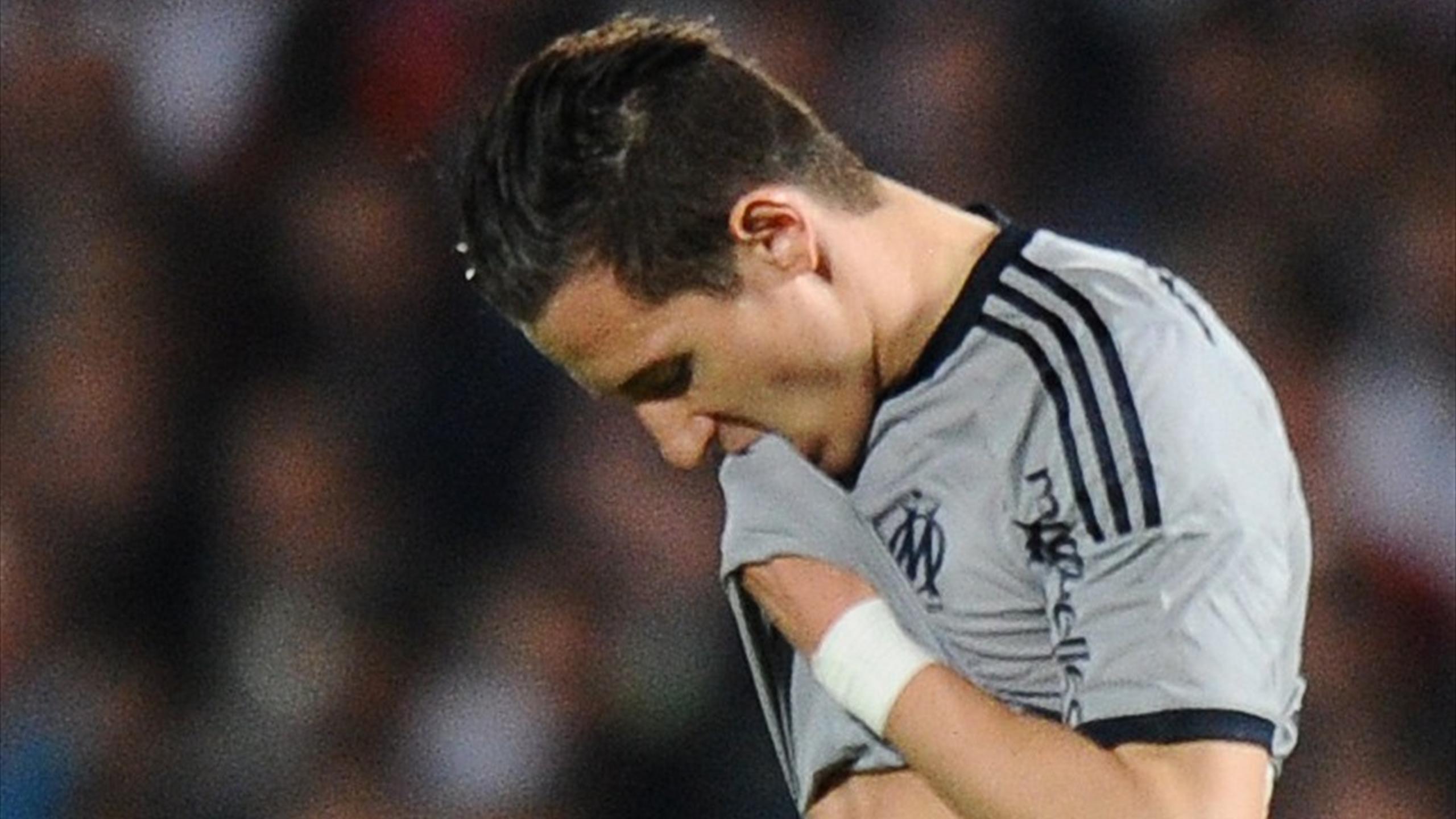 Florian Thauvin (Marseille) après la défaite à Bordeaux en Ligue 1 2014-2015
