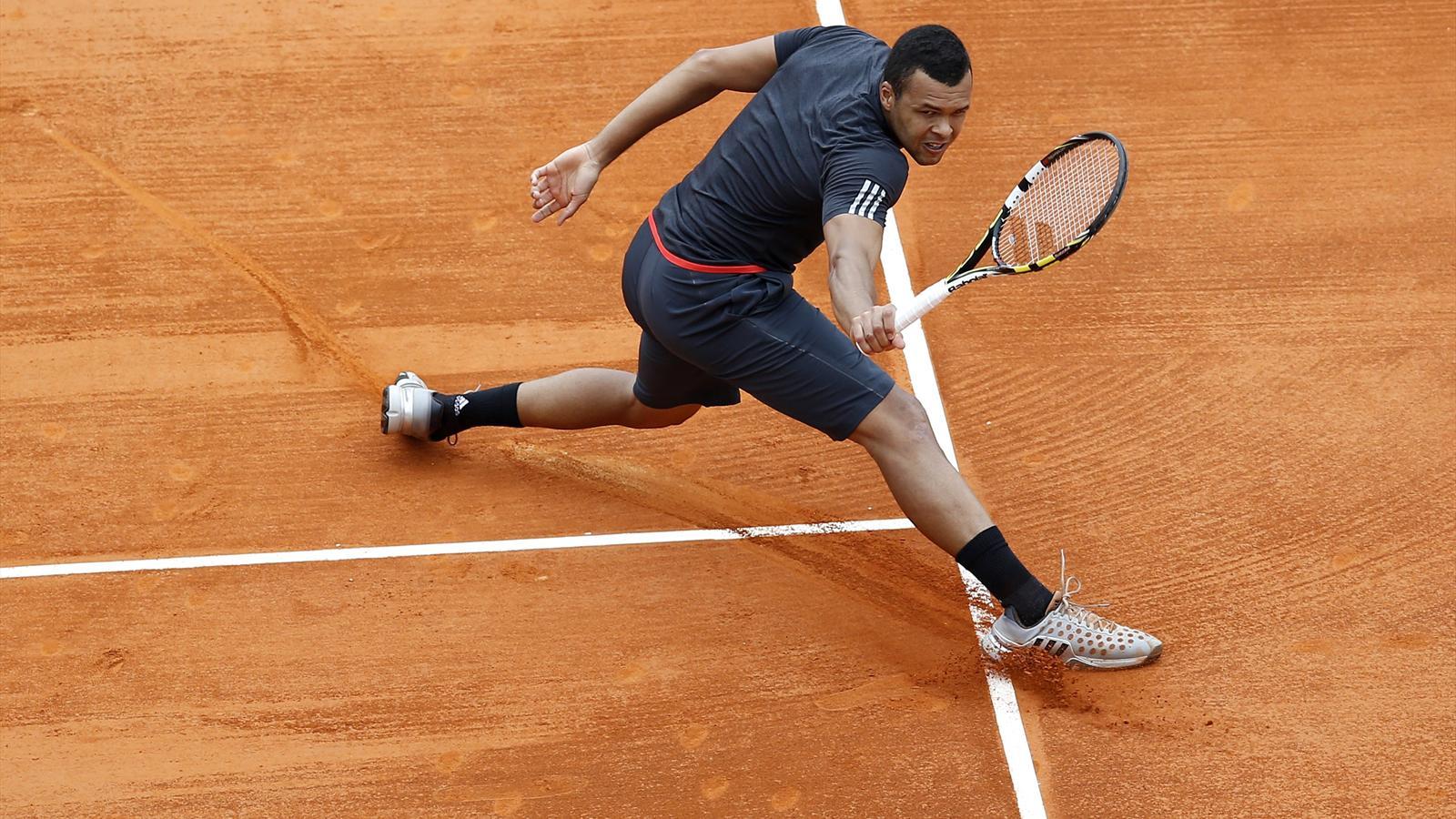 Jo-Wilfried Tsonga lors du tournoi de Monte-Carlo 2015