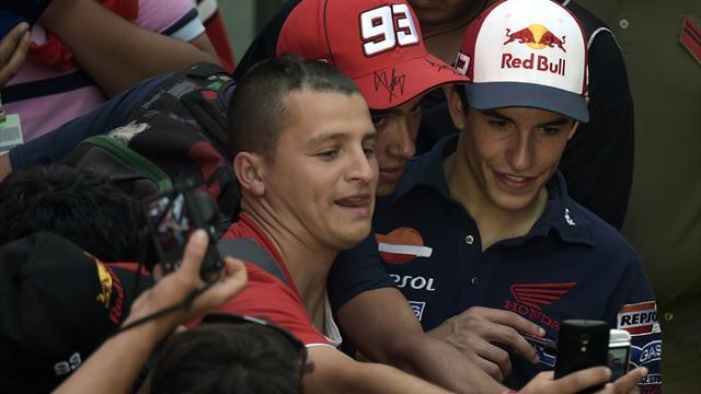 Marquez : 'J'ai toujours dit que Rossi �tait mon idole, on apprend toujours quelque chose de lui !'