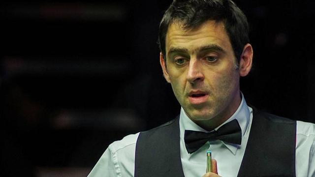Ronnie O'Sullivan nearly snaps cue but leads Matthew Stevens