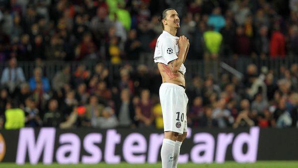 Zlatan Ibrahimovic lors de Barça-PSG - 2015