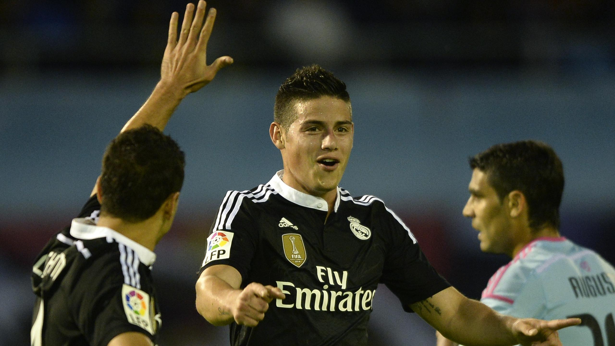 James Rodriguez (Real Madrid) face au Celta Vigo
