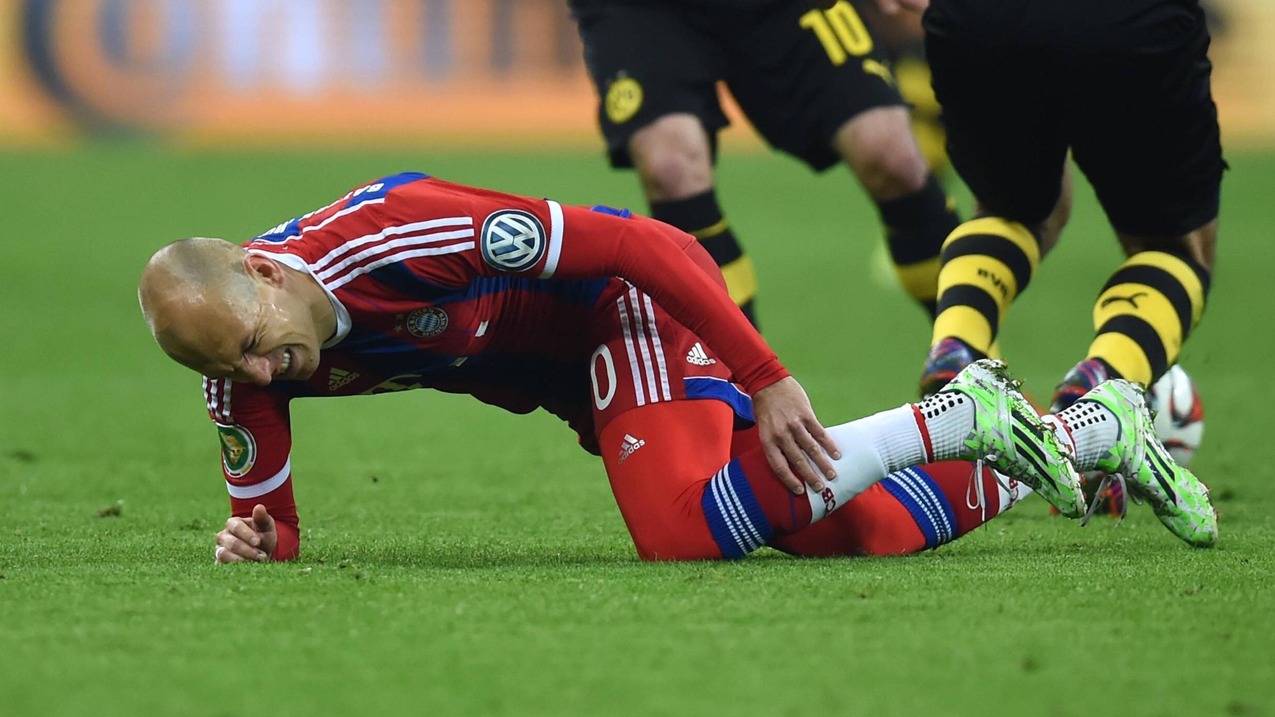 Blessé face à Dortmund, Robben ne jouera plus cette saison avec le Bayern