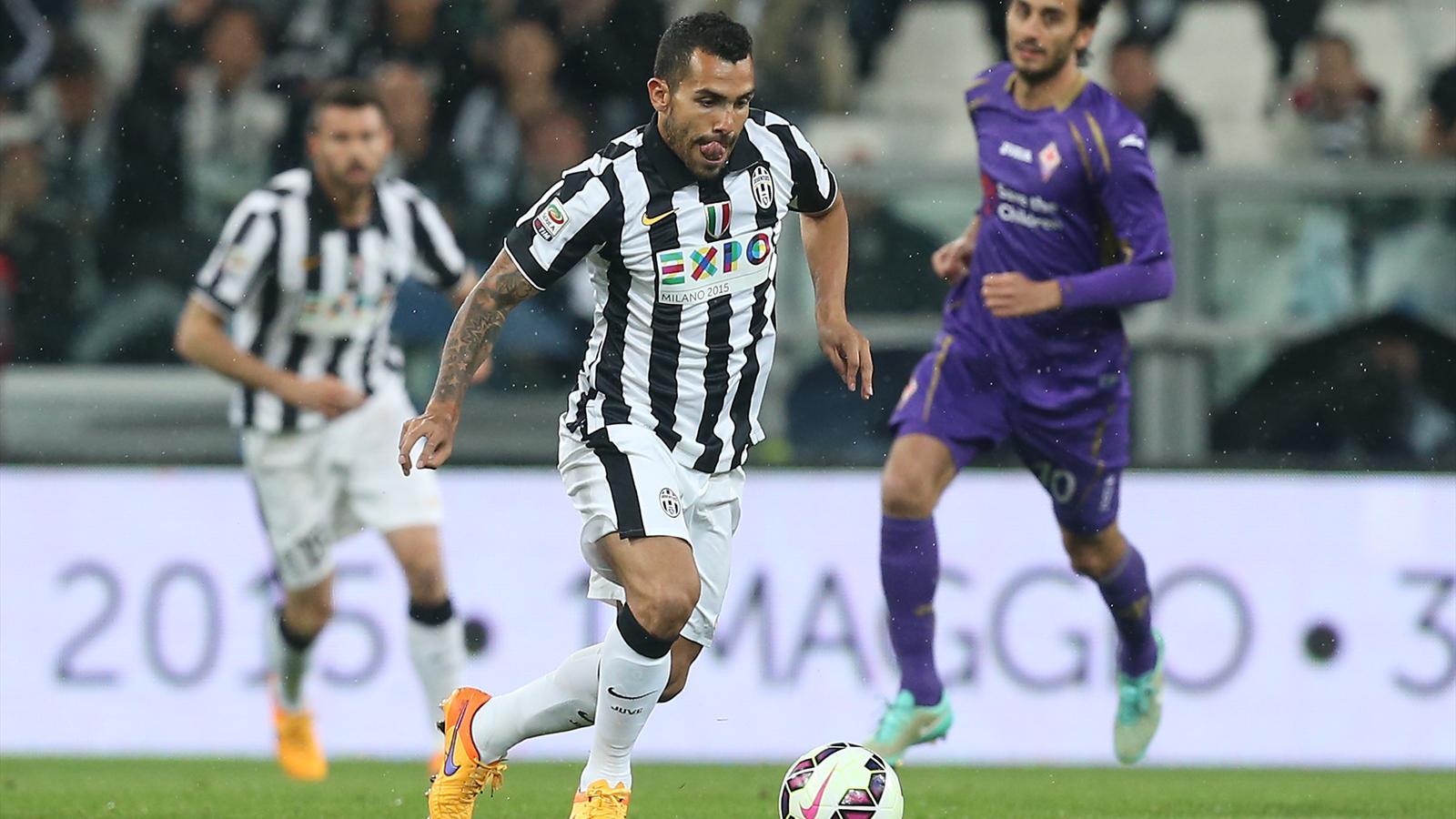Carlos Tevez (Juventus) face à la Fiorentina - Serie A 2014/2015