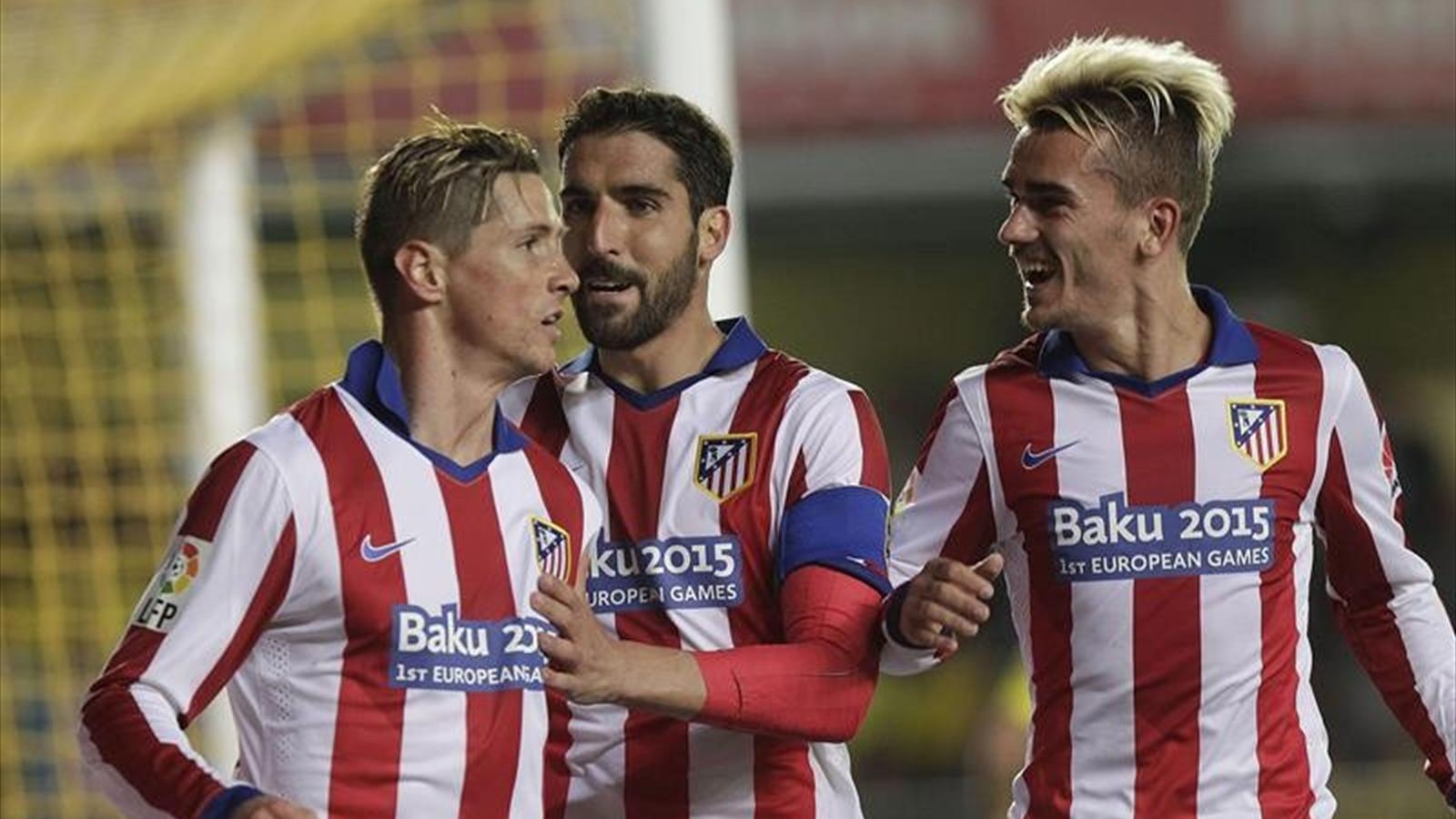 Fernando Torres, Raúl García and Antoine Griezmann