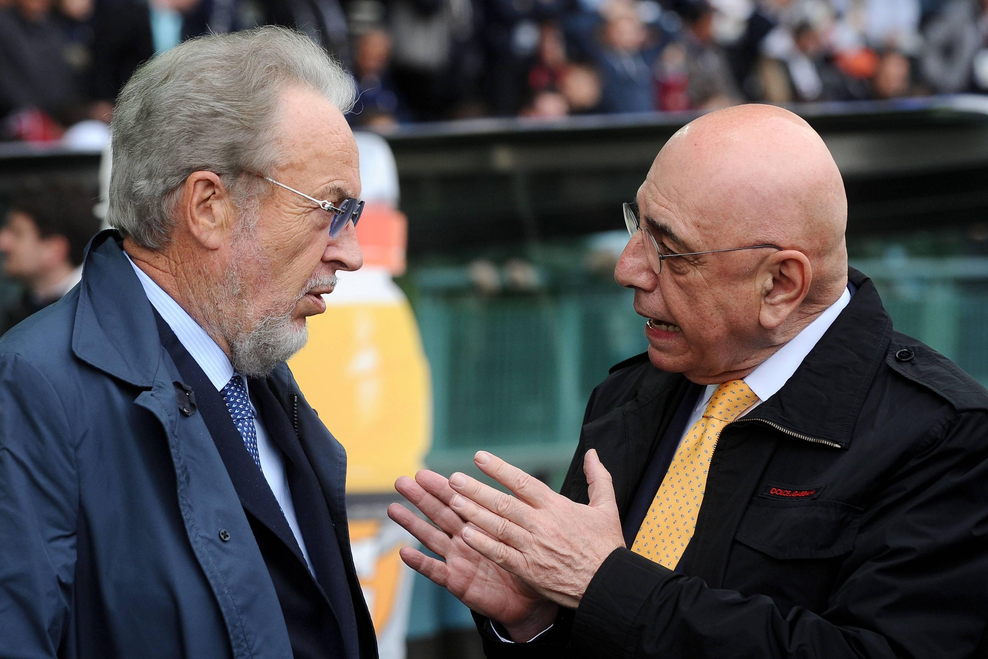 Джампаоло Поццо беседует с Адриано Галлиани