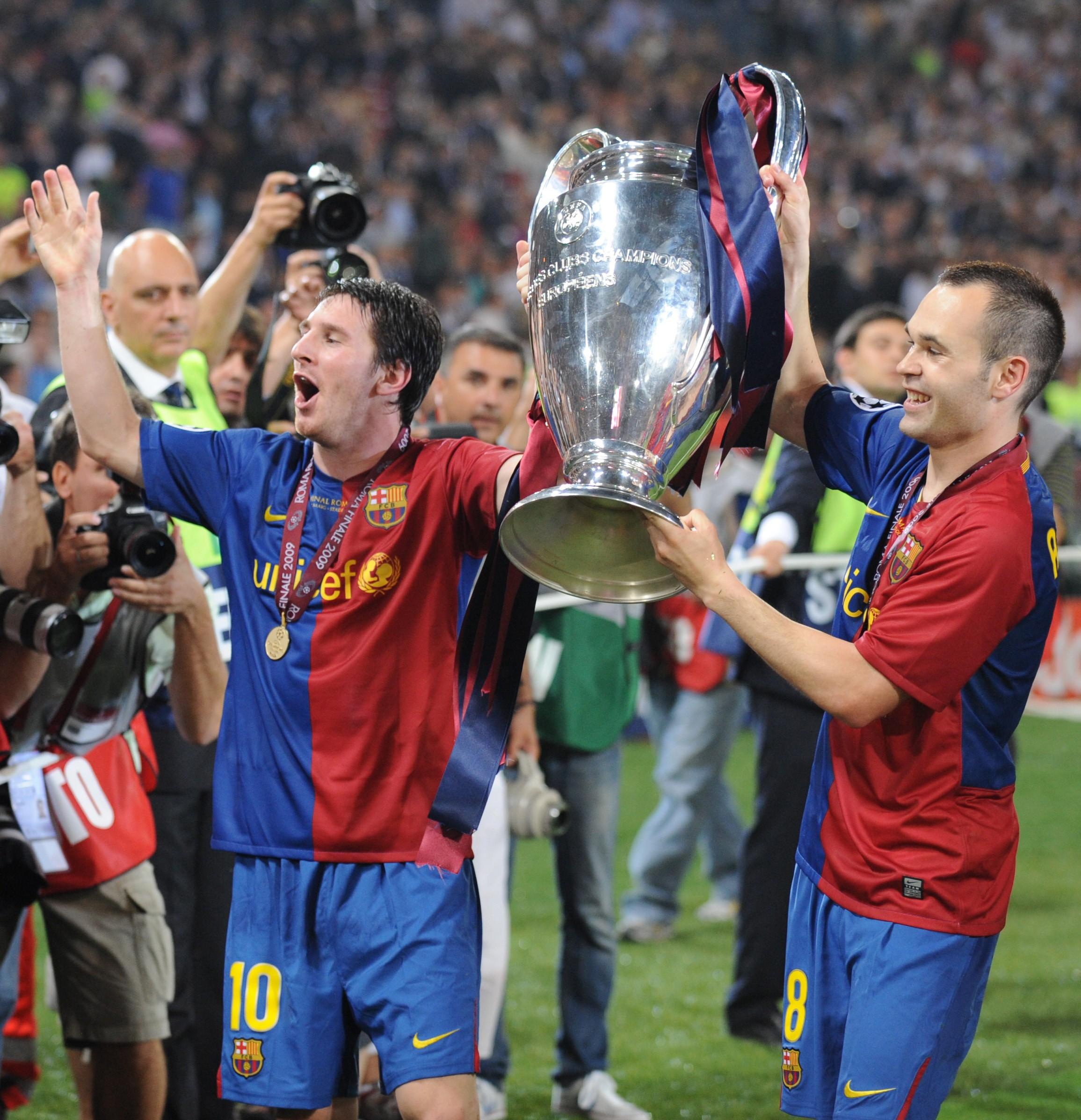 Messi et Iniesta avec la Ligue des Champions en 2009