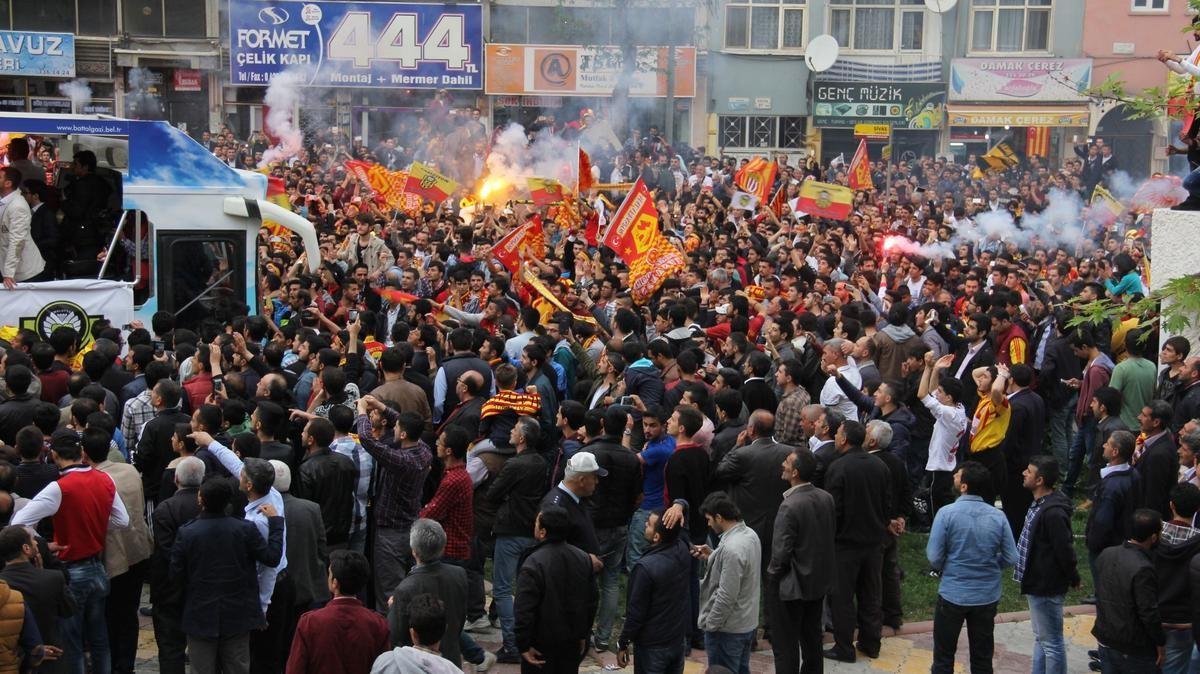 Yeni Malatyaspor'un şampiyonluk kutlaması