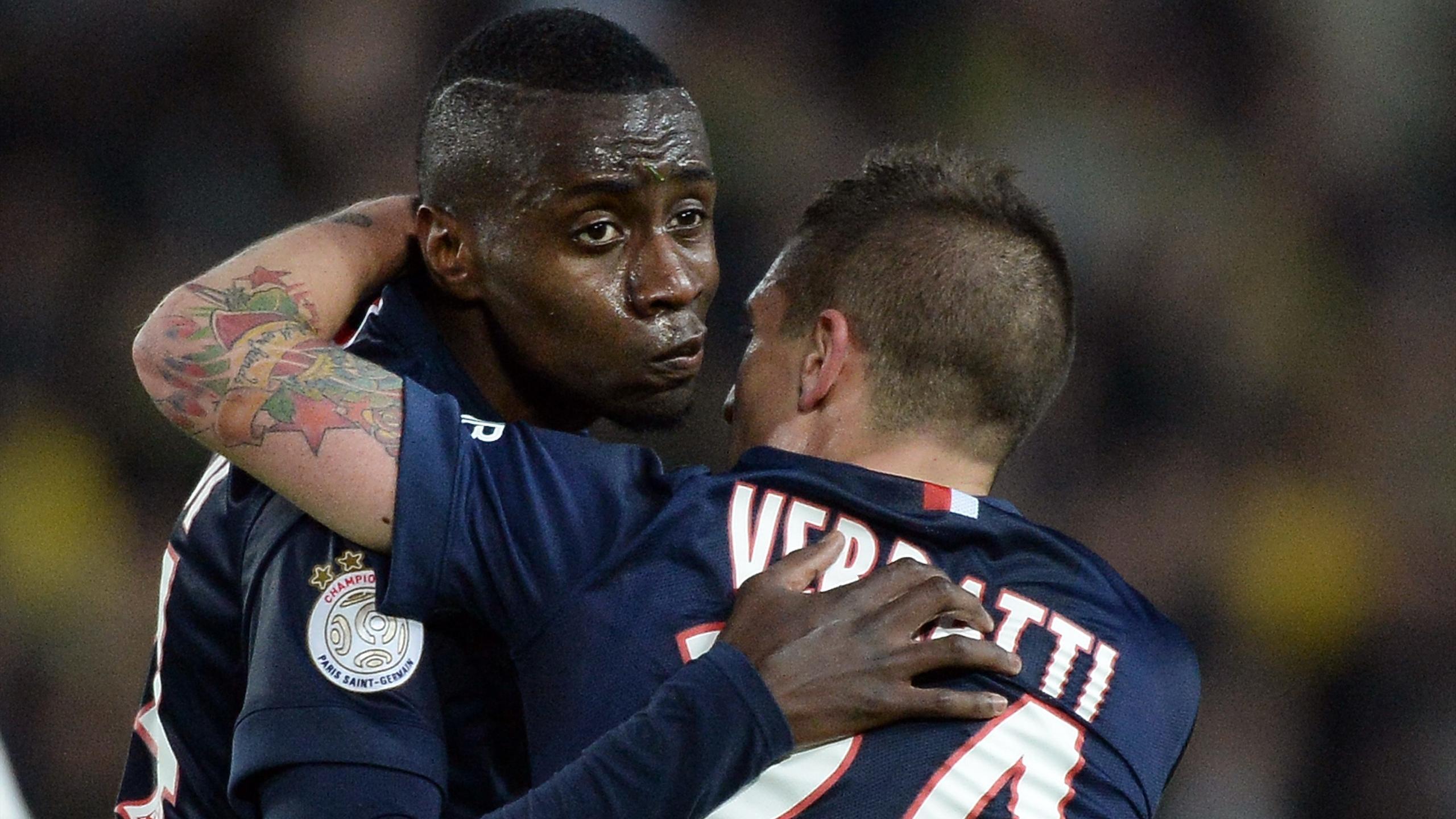 Matuidi et Verratti lors de la victoire du PSG à Nantes
