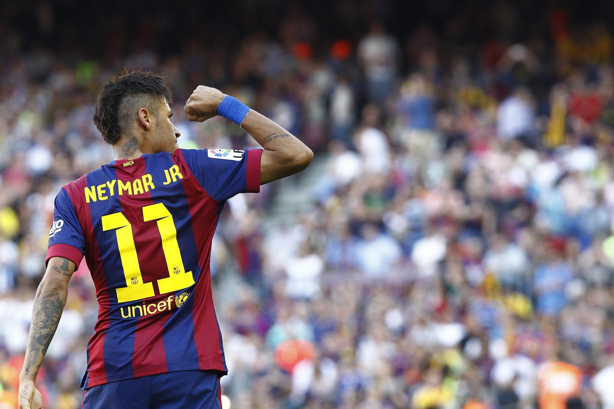 Neymar a ouvert le score face à la Real Sociedad