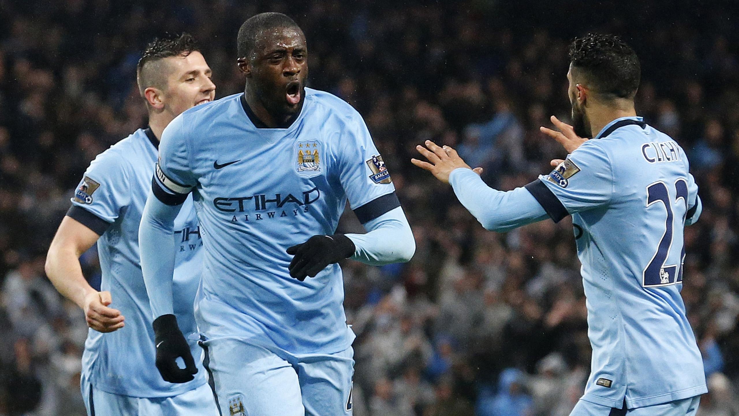 Yaya Touré Manchester City 2015 AFP