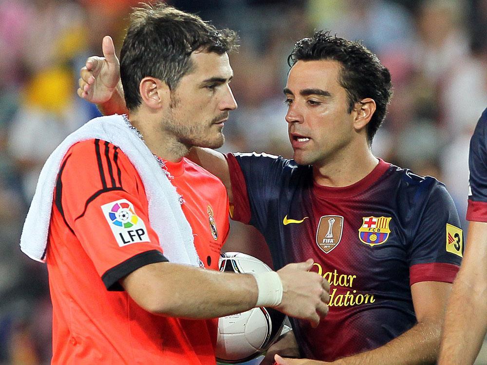 Im Erfolg vereint: Dauerbrenner Casillas (l.) und Xavi