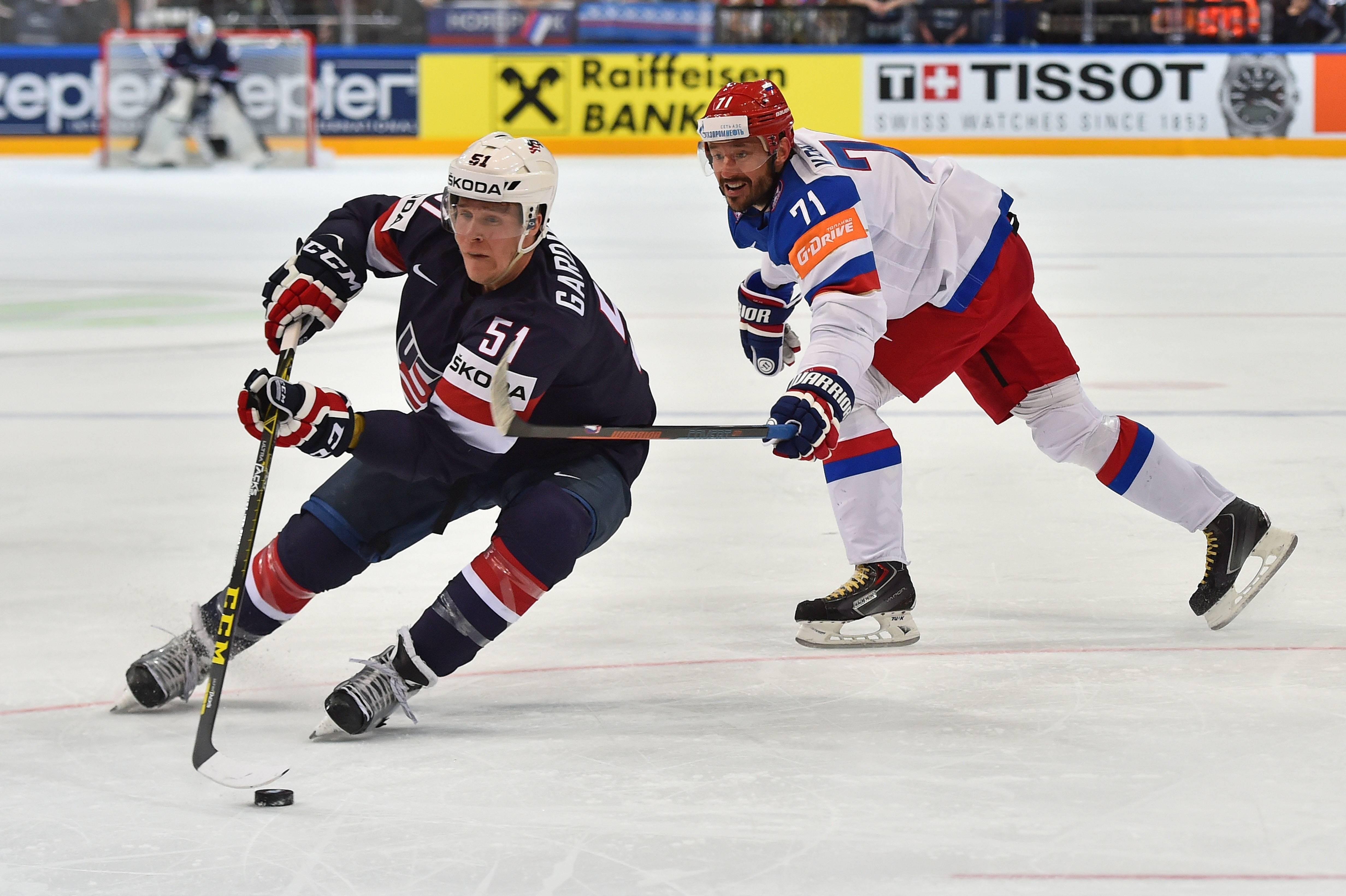 Илья Ковальчук в игре против сборной США