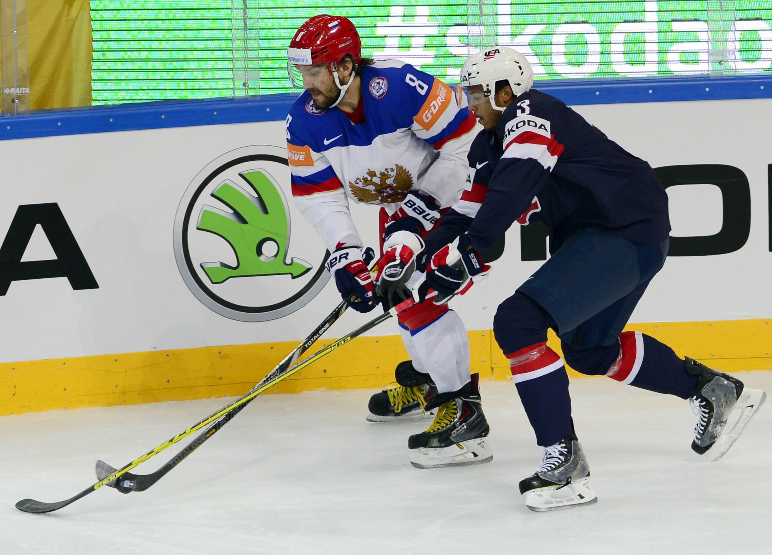 Александр Овечкин в матче Россия – США