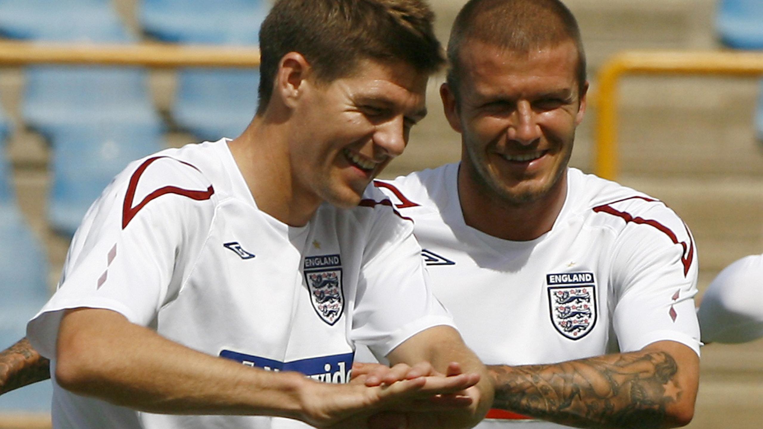 Beckham battre an gerrard