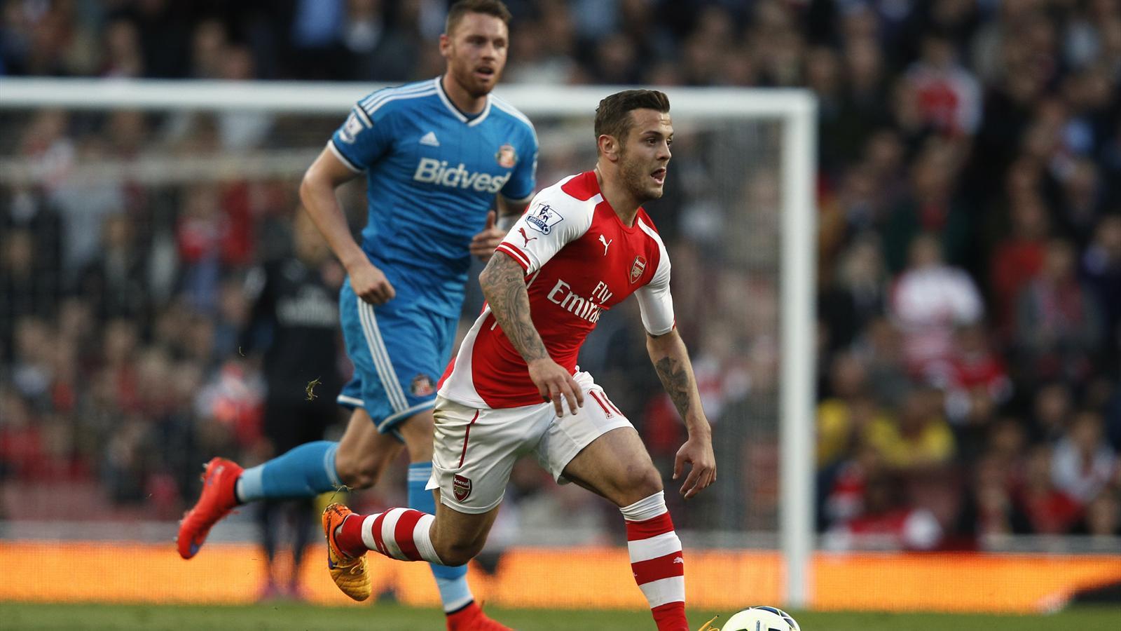 Jack Wilshere tente de mener Arsenal au succès contre Sunderland