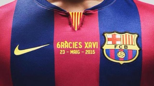 Barcelona'dan Xavi'ye son jest
