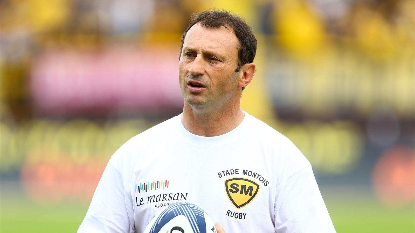 Christophe Laussucq, l'entraîneur des trois-quarts de Mont-de-Marsan - mai 2015