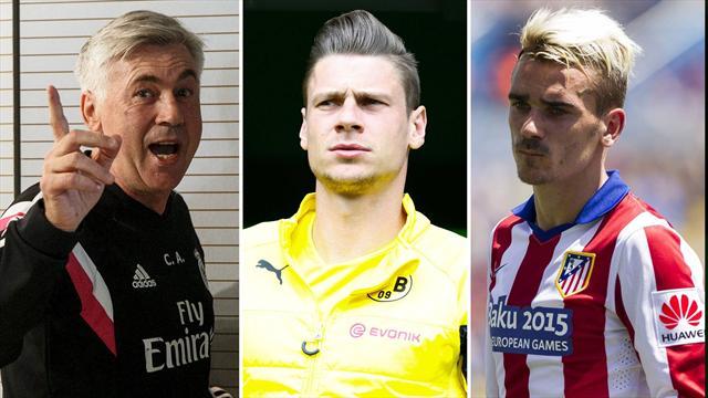 Ancelotti, Piszczek y Griezmann, nombres del día