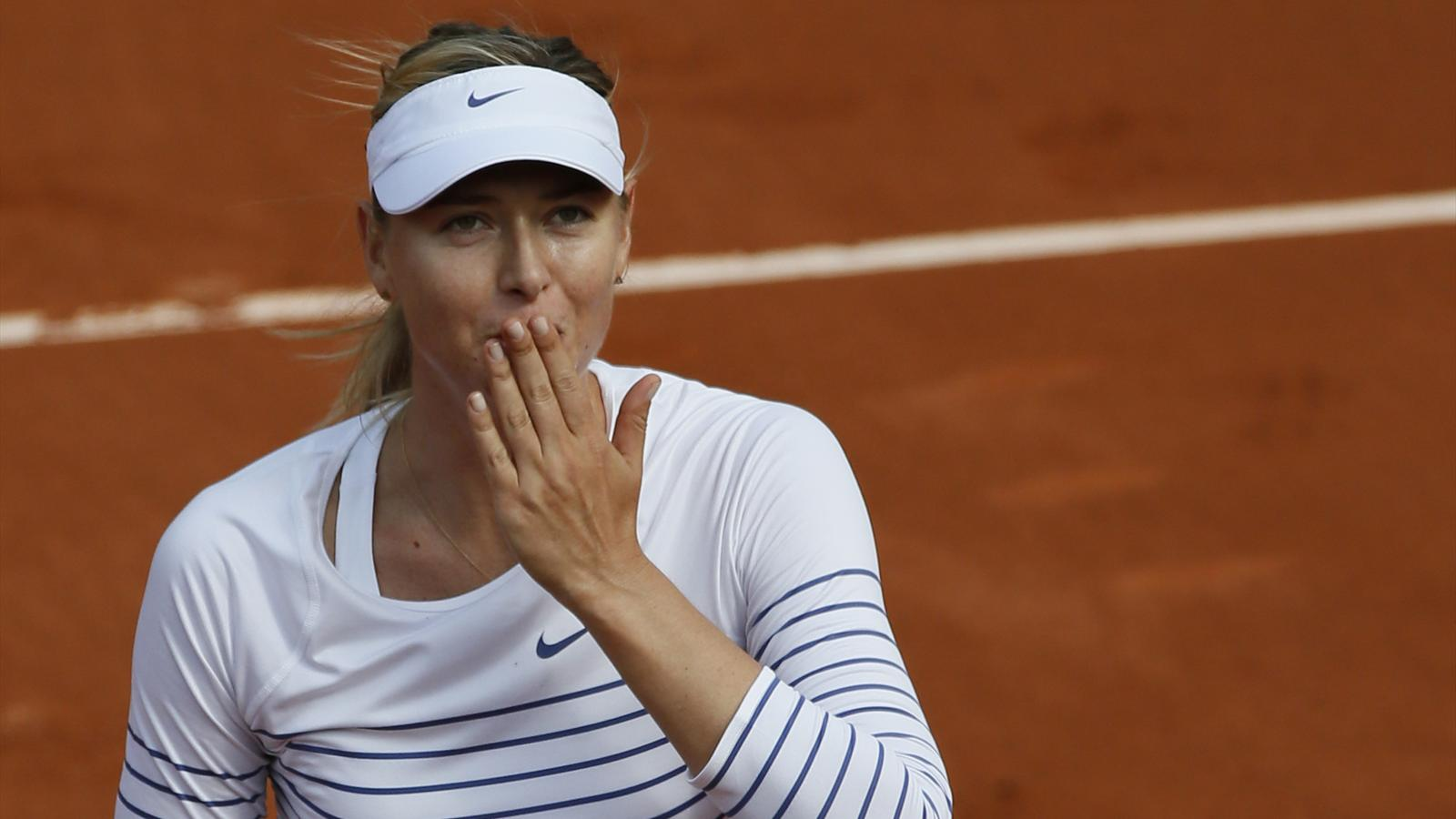 Maria Sharapova au premier tour de Roland-Garros 2015