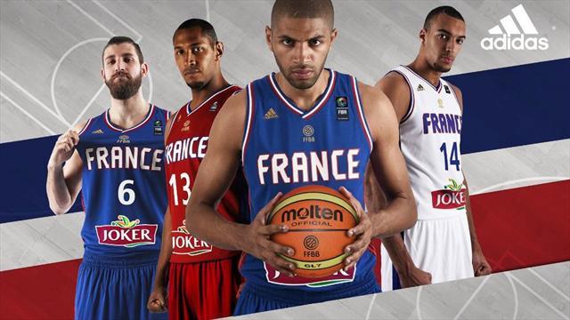 Un nouveau maillot rouge pour l'�quipe de France de basket