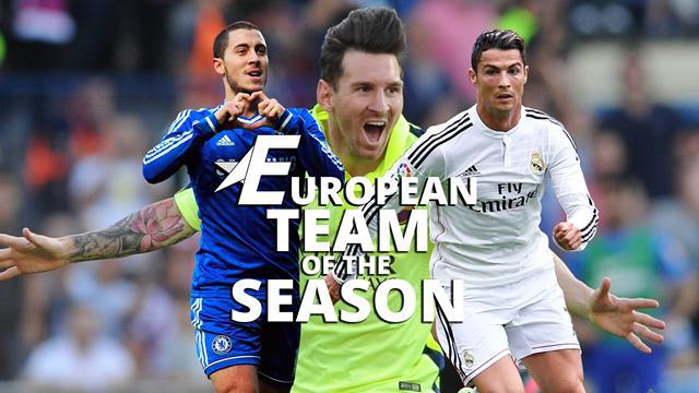 European Team of the Season: Who joins Lionel Messi and Cristiano Ronaldo?