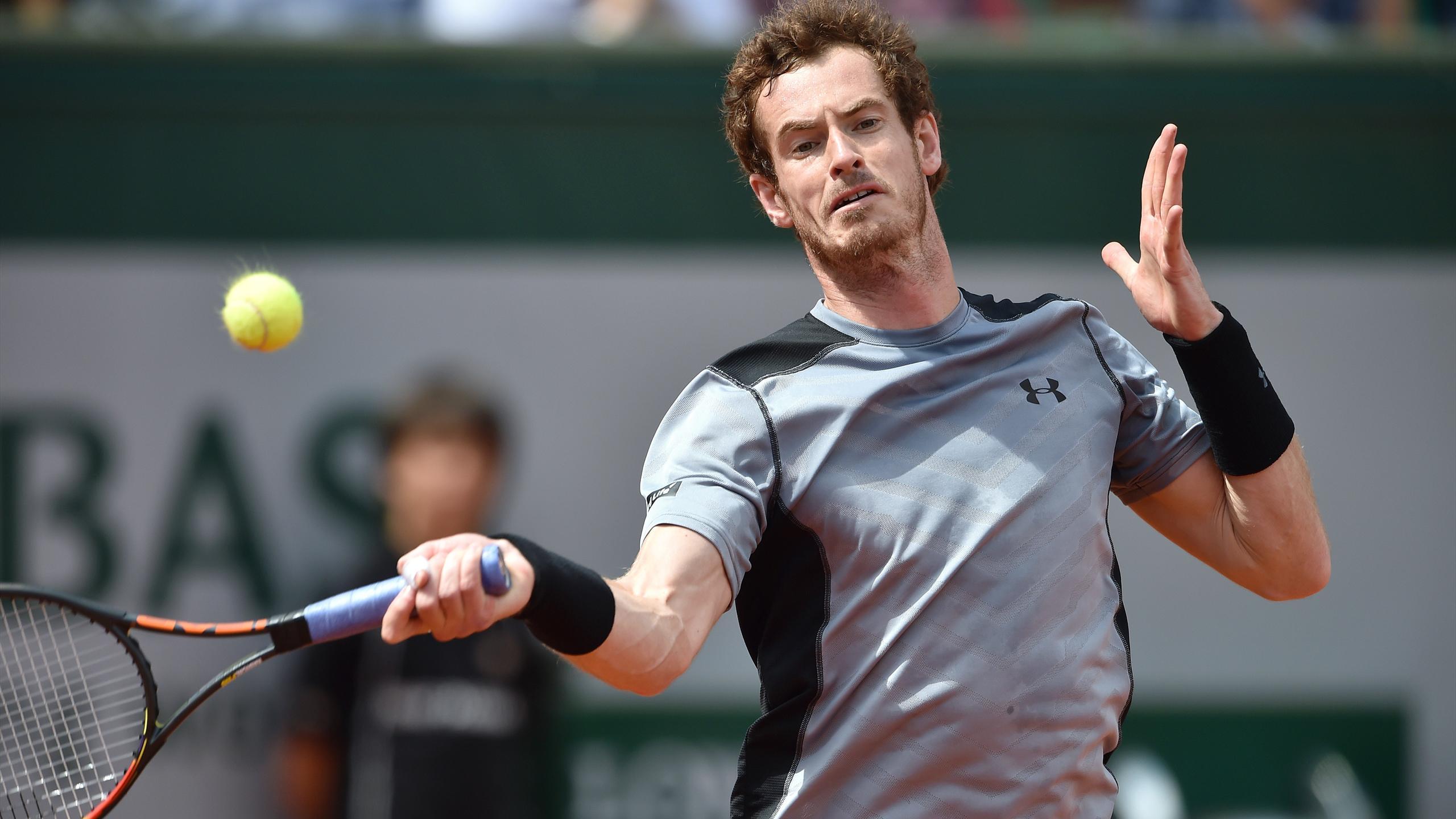 Andy Murray vs Nick Kyrgios during Roland Garros 2015 on May 30, 2015