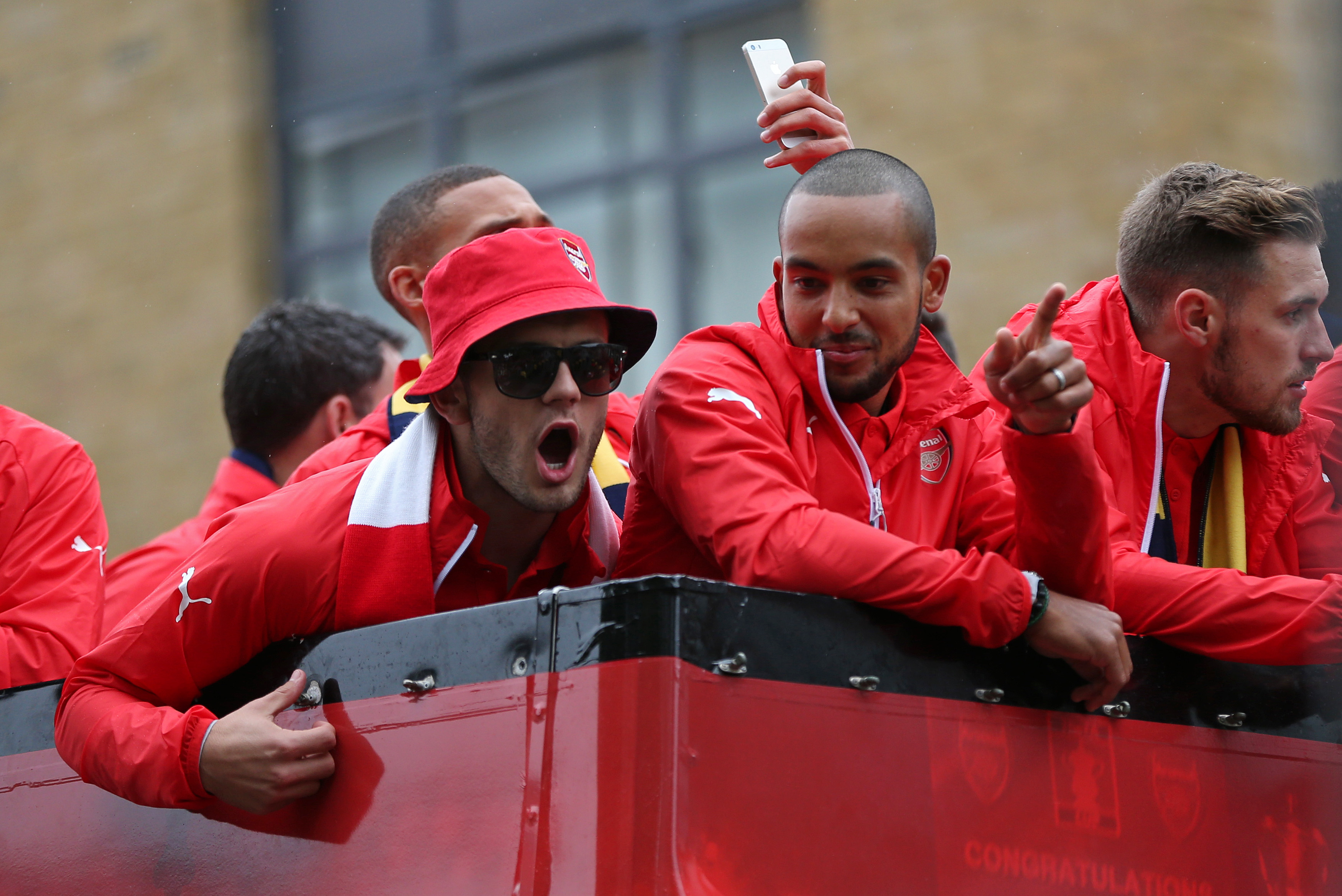 Arsenal trophy parade: Jack Wilshere leads expletive-laden anti-Tottenham songs