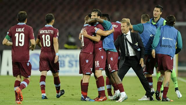 Lazio finish third in Serie A after win at Napoli