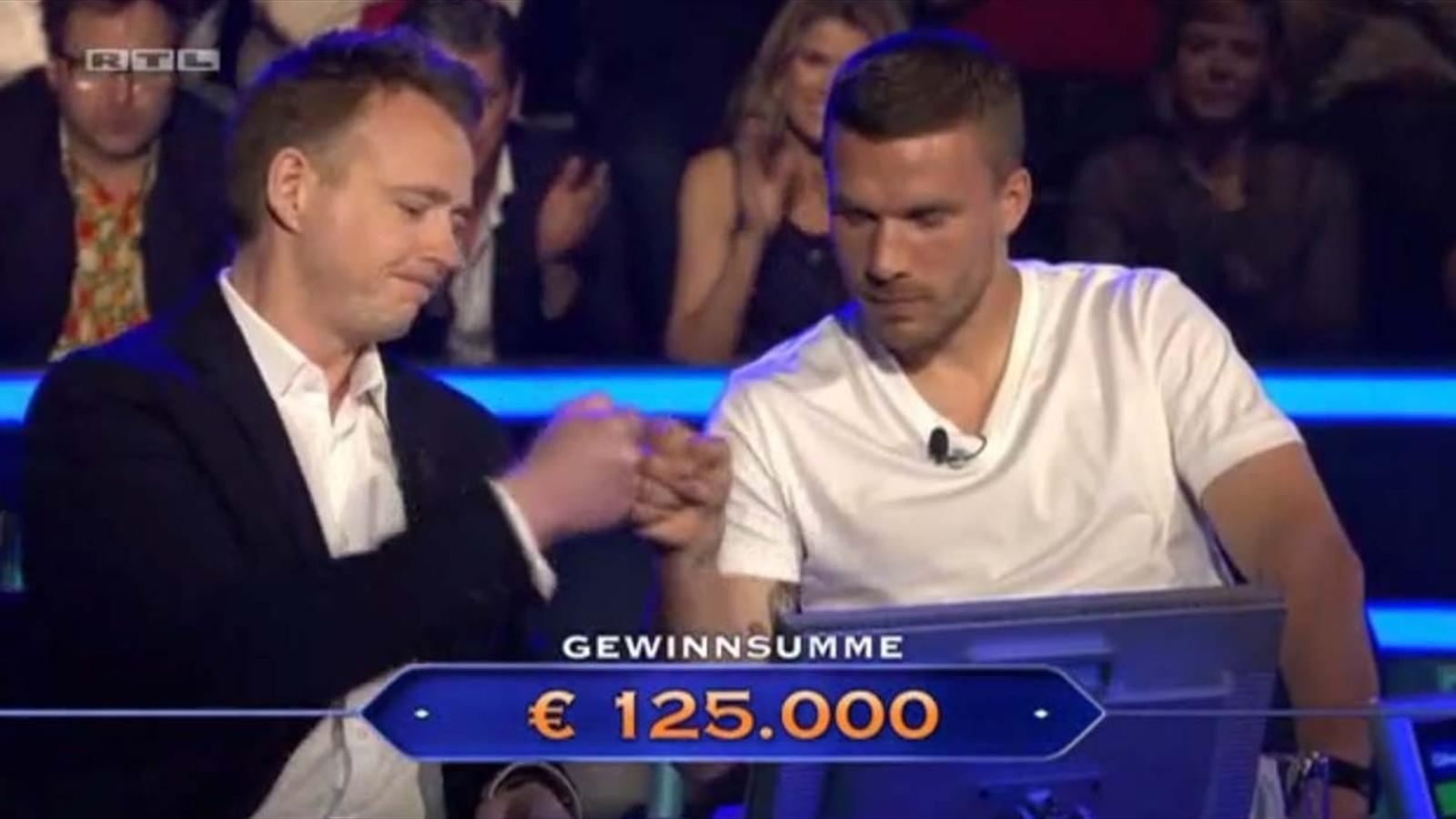 Lukas Podolski on the German 'Who wants to be a millionaire'