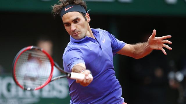 Federer a frôlé la sortie de route d'entrée