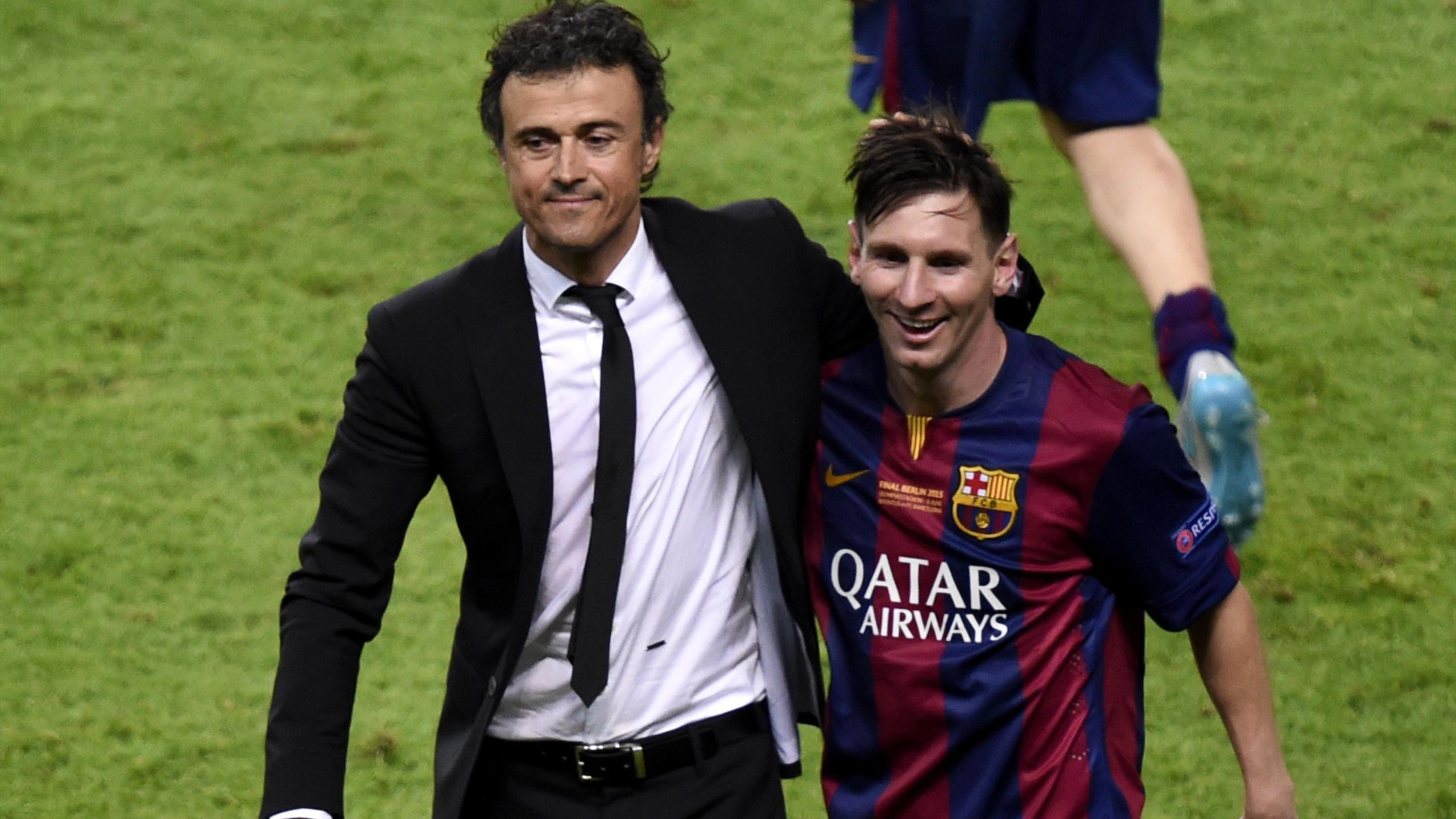 Lionel Messi With Luis Enrique