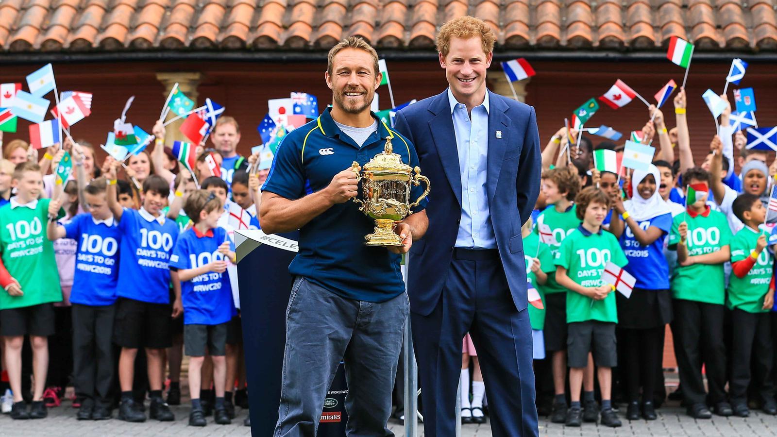Jonny Wilkinson et le Prince Harry à 100 jours du Mondial