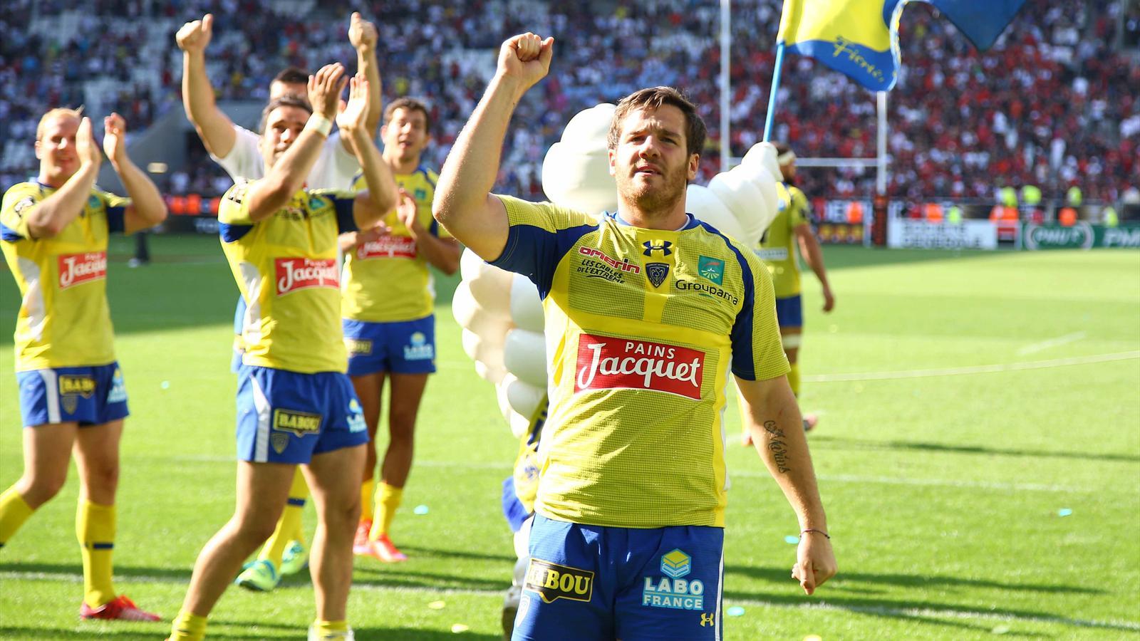 La joie de Camille Lopez et des Clermontois après la victoire sur Toulouse en demi-finale