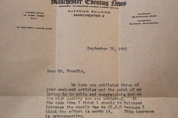 Письмо из редакции Айвору Бродису (1952)